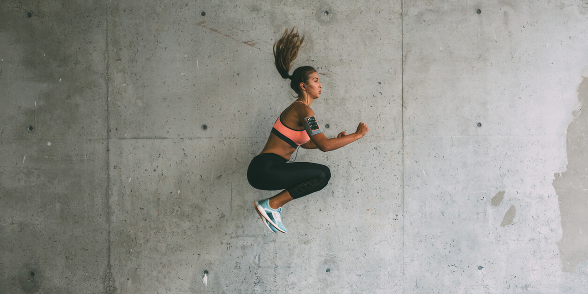 Sportende vrouw