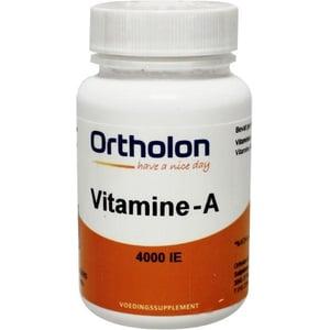 Ortholon Vitamine A 4000 afbeelding