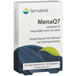 Springfield MenaQ7 45 mcg vitamine K2 afbeelding