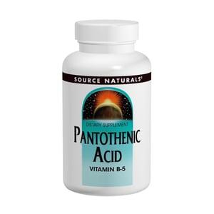 Source Naturals Pantothenic Acid 250 mg (vitamine B5) afbeelding