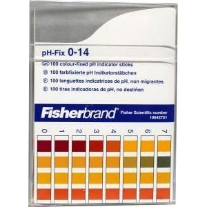 Blockland Phpapier PH 0.0-14.0 teststrips afbeelding