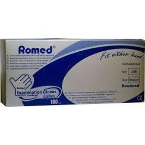 Romed Latex handschoen niet steriel gepoederd M afbeelding