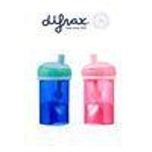 Difrax Anti lek rietjes beker assorti afbeelding