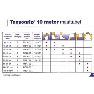 Tensogrip Tensogrip L 10 m x 32.5 cm wit afbeelding