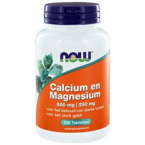 NOW Calcium Magnesium 2:1 (500/250 mg) afbeelding