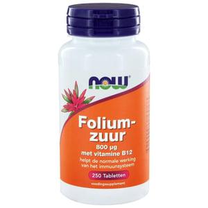 NOW Foliumzuur 800 mcg afbeelding