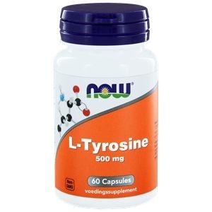 NOW L-Tyrosine 500 mg afbeelding