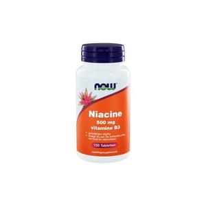 NOW Niacine 500 mg vitamine B3 geleidelijke afgifte afbeelding