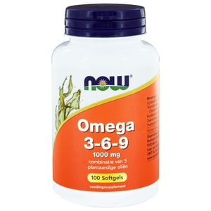 NOW Omega 3-6-9 1000 mg afbeelding