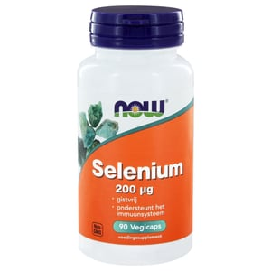 NOW Selenium gistvrij 200 mcg afbeelding