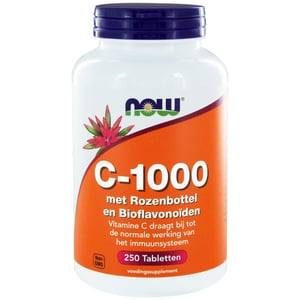 NOW Vitamine C 1000 mg Bioflavonoids & Rose Hips (bioflavonoïden en rozebottel) afbeelding