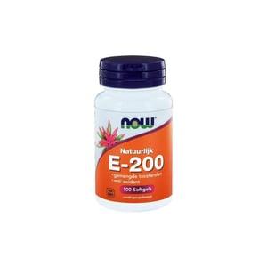 NOW Vitamine E-200 natuurlijke gemengde tocoferolen afbeelding
