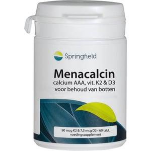 Springfield Menacalcin calcium, magnesium, K2 en D3  afbeelding