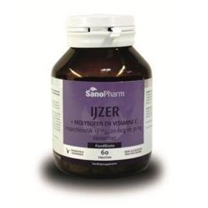 SanoPharm IJzer plus Molybdeen en Vitamine C afbeelding
