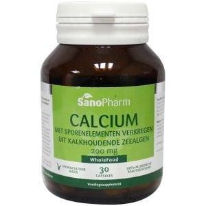 SanoPharm Calcium 200 mg met sporenelementen uit kalkhoudende zeealgen afbeelding