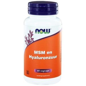 NOW Hyaluronzuur met MSM afbeelding