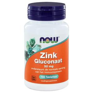 NOW Zink gluconaat 50 mg afbeelding