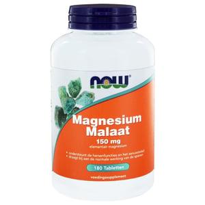 NOW Magnesium Malaat 115 mg (appelzuur gebonden magnesium) afbeelding