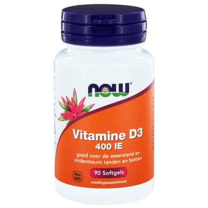 NOW Vitamine D3 400IE afbeelding