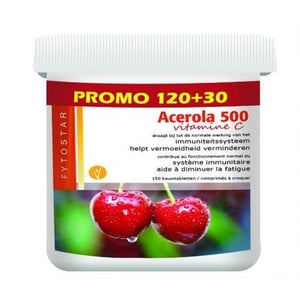 Fytostar Acerola vitamine C 500 kauw afbeelding