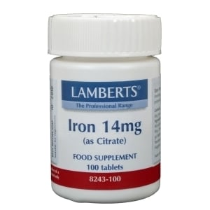Lamberts IJzer Citraat 14 mg afbeelding