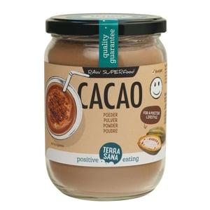 TerraSana RAW cacao antioxidant poeder in glas afbeelding