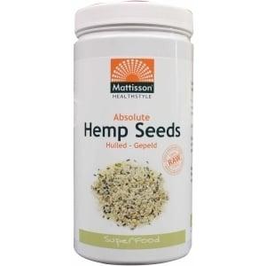 Mattisson Healthstyle Absolute Hennepzaad Gepeld Bio Raw (Absolute Hemp Seeds Hulled) afbeelding