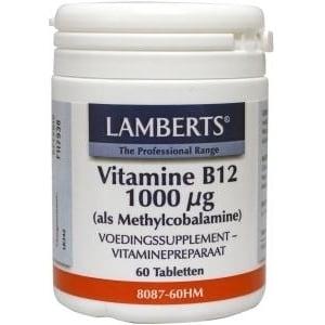 Lamberts Vitamine B12 methylcobalamine 1000 mcg afbeelding