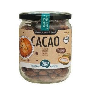 TerraSana RAW cacao bonen in glas afbeelding
