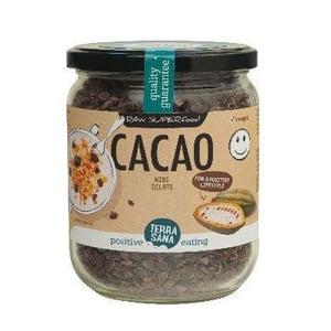 TerraSana RAW cacao nibs in glas afbeelding