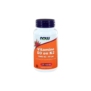 NOW Vitamine D3 1000IE & Vitamine K2 afbeelding