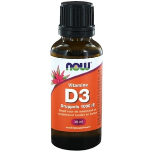 NOW Vitamine D3 druppels 1000IE afbeelding