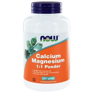 NOW Calcium & magnesium 1:1 (calcium magnesium poeder met vitamine D) afbeelding