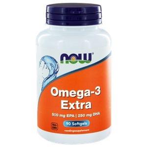 NOW Omega-3 Extra 500 mg EPA 250 mg DHA afbeelding