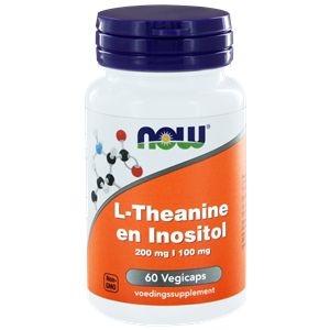 NOW L-Theanine 200 mg met Inositol 100 mg afbeelding
