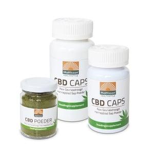 Mattisson Healthstyle CBD caps RAW gevriesdroogd hennepblad sap afbeelding