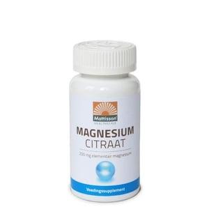 Mattisson Healthstyle Magnesiumcitraat 200 mg elementair magnesium afbeelding