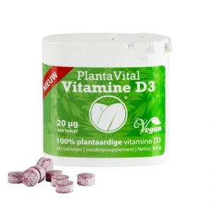 Plantavital Plantaardige vitamine D3 (vegan, 800 IE) afbeelding