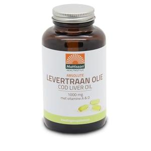 Mattisson Healthstyle Levertraanolie 1000 mg vitamine A/D afbeelding