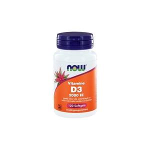 NOW Vitamine D3 2000IE afbeelding