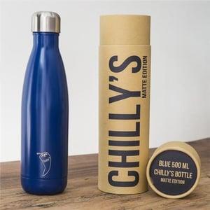 Chillys Bottle Chilly's Bottle Blue Matte 500 ml afbeelding