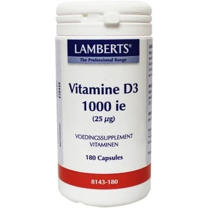 Lamberts Vitamine D3 1000IE 25 mcg afbeelding