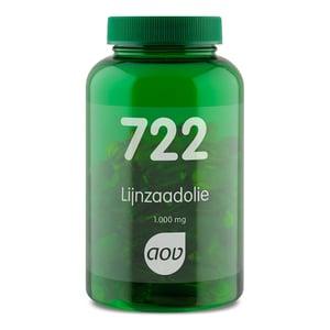 AOV Voedingssupplementen 722 Lijnzaadolie 1000 mg (ALA, omega-3) afbeelding