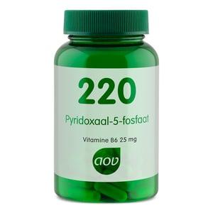 AOV Voedingssupplementen 220 Pyridoxaal-5-fosfaat (vitamine B6 als P5P) afbeelding