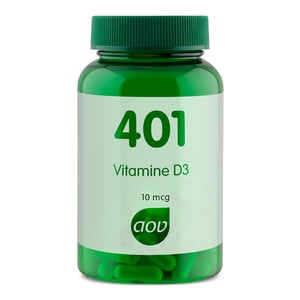 AOV Voedingssupplementen 401 Vitamine D3 10 mcg (400 IE) afbeelding