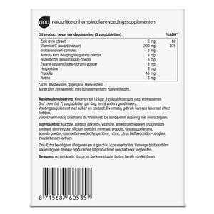 AOV Voedingssupplementen 534/535 Zink Extra Zuigtabletten afbeelding