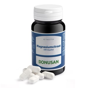 Bonusan Magnesiumcitraat 150 mg plus afbeelding