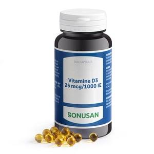 Bonusan Vitamine D3 25 mcg afbeelding