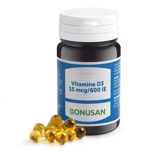 Bonusan Vitamine D3 15 mcg afbeelding