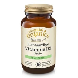 Essential Organics Puur Plantaardige D3 Forte 75 mcg 3000 IE afbeelding